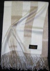 Плед 130х180 Eccentric White от Glen Saxon белый