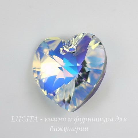 6228 Подвеска Сваровски Сердечко Crystal AB (10,3х10 мм) ()