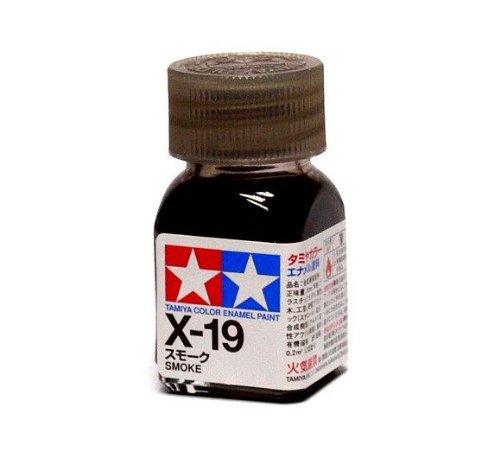 X-19 Краска Tamiya Дымчатая (Smoke), эмаль 10мл