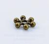"""Бусина металлическая - спейсер """"Снежинка"""" (цвет - античная бронза) 8х2 мм, 10 штук"""