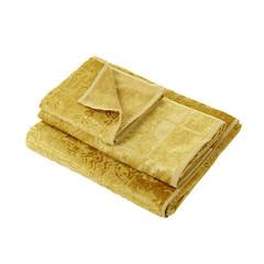 Полотенце 100х150 Roberto Cavalli Logo Gold золотое