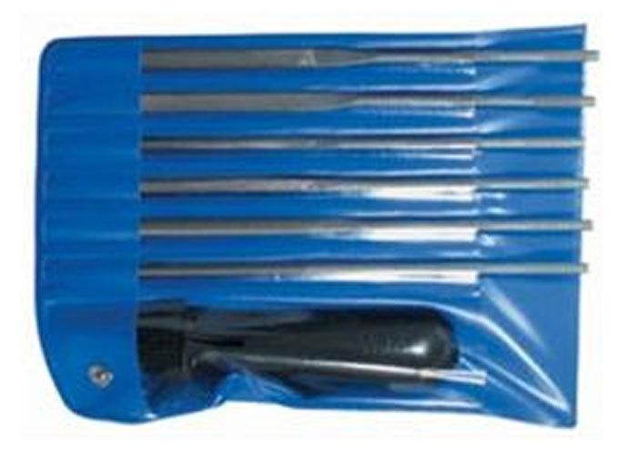 Набор надфилей с ручкой 6 предметов Ajax 286213931606