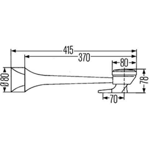 Пневматический звуковой сигнал Hella 300/330 Гц (3PB 005 411-001)