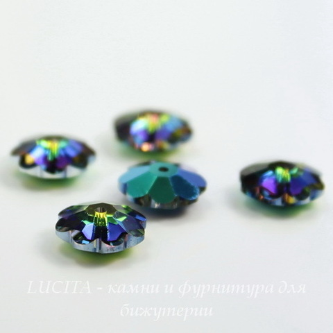 """3700 Бусина - рондель Сваровски """"Цветочек"""" Crystal Vitrail Medium 10 мм ()"""