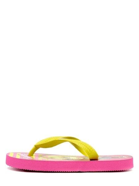 Шлепанцы Монстер Хай (Monster High) пляжные сланцы для девочек, цвет розовый желтый