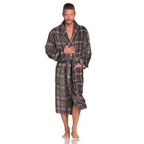 Элитный халат велюрово-махровый Jack серый от Vossen