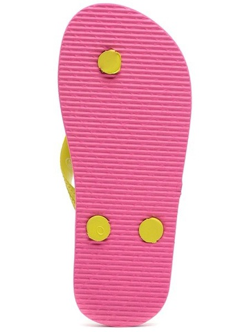 Шлепанцы Монстер Хай (Monster High) пляжные сланцы для девочек, цвет розовый желтый. Изображение 7 из 8.
