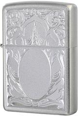 Зажигалка Zippo Scrolled Mirror, Satin Chrome™ 21137