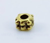 Бусина металлическая - спейсер (цвет - античное золото) 4х3 мм , 10 штук