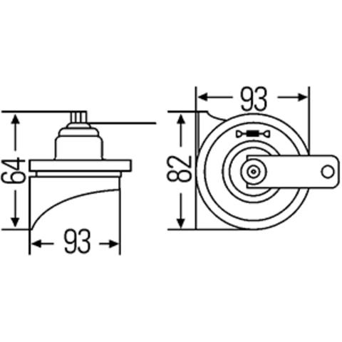 Звуковой сигнал Hella 500/400 Гц (3FH 007 728-811)