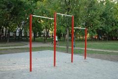 Перекладина уличная разновысокая трехсекционная (металлическая)