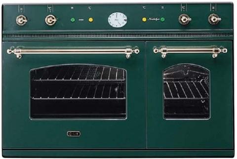 Газовый независимый духовой шкаф ILVE D 900 NVG изумрудный зелёный