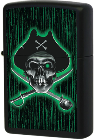 Купить Зажигалка Zippo Pirate American Hardcore, Black Matte™ 24261 по доступной цене