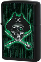 Зажигалка Zippo Pirate American Hardcore, Black Matte™ 24261