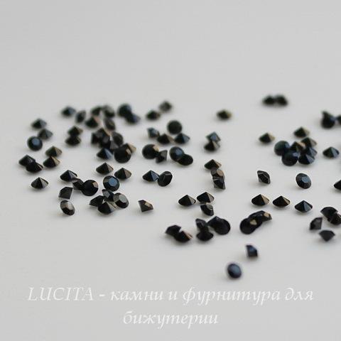 1028 Стразы Сваровски Jet PP 6 (1,3-1,35 мм), 20 штук ()