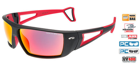 Солнцезащитные очки goggle FINSO black/red