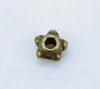 Бусина металлическая (цвет - античная бронза) 4х3 мм, 20 штук