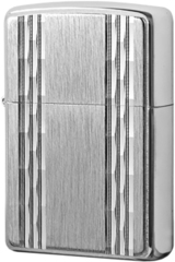 Зажигалка Zippo Double Vertical Diamond Cut Emblem, Brushed Chrome 24994