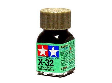 X-32 Краска Tamiya Титан Серебристая (Titanium Silver), эмаль 10мл