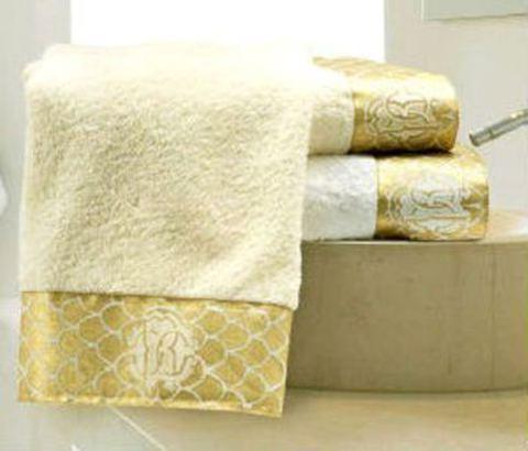 Набор полотенец 2 шт Roberto Cavalli Gold бежевый