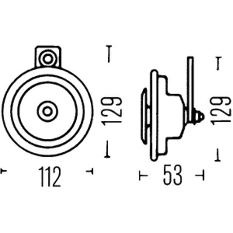 Звуковой сигнал Hella 400 Гц (3BA 002 768-551) (1 шт.)