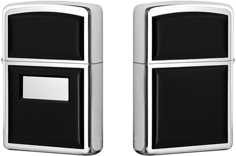 Купить Зажигалка Zippo Ultralite Black Emblem, Polish Chrome 355 по доступной цене
