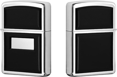 Зажигалка Zippo Ultralite Black Emblem, Polish Chrome 355