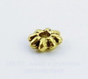 Бусина металлическая - спейсер (цвет - античное золото) 6х2 мм, 10 штук