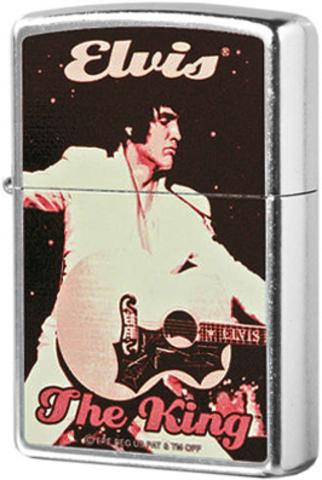 Купить Зажигалка Zippo Elvis The King, Street Chrome 2002322 по доступной цене