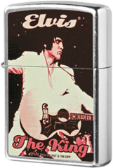 Зажигалка Zippo Elvis The King, Street Chrome 2002322