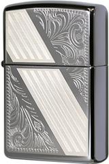 Зажигалка Zippo Venetian Stripe, Black Ice® 24038