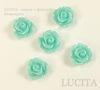 Кабошон акриловый бирюзовый Розочка, 10х6.5 мм, 5 штук ()