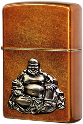 Купить Зажигалка Zippo Buddha Emblem, Toffee Finish 21195 по доступной цене