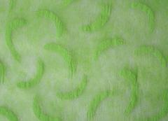 Фетр с рисунком штрихи на зеленом 50см*10м