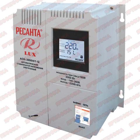 Стабилизатор Ресанта АСН-3 000 H/1-Ц Lux