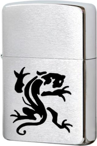 Купить Зажигалка Zippo 200 Pangolin, Brushed Chrome по доступной цене