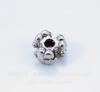 """Бусина металлическая """"Три цветка"""" (цвет - античное серебро) 7х4 мм, 10 штук"""