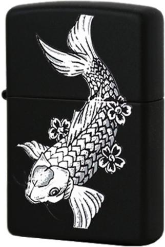 Купить Зажигалка Zippo Fanciful Fish, Black Matte™ 24713 по доступной цене