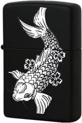 Зажигалка Zippo Fanciful Fish, Black Matte™ 24713