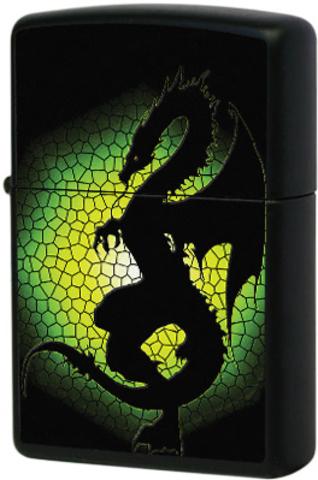 Купить Зажигалка Zippo Triptych Dragon, Black Matte 28135 по доступной цене