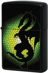 Зажигалка Zippo Triptych Dragon, Black Matte 28135