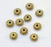 Бусина металлическая - рондель - спейсер (цвет - античное золото) 5х3 мм, 10 штук