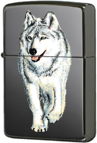 Купить Зажигалка Zippo Wolf Black Ice® 769 по доступной цене