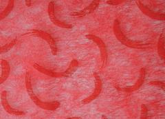 Фетр с рисунком штрихи на красном 50см*10м