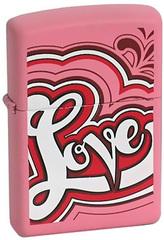 Зажигалка Zippo Love, Pink Matte - 20956