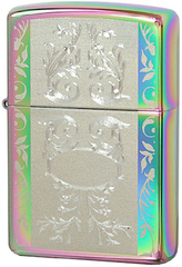 Зажигалка Zippo Engraved Filigree Spectrum, Chrome in Colour 24203
