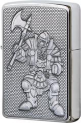 Зажигалка Zippo Fantasy Ork Emblem, Brushed Chrome 20915