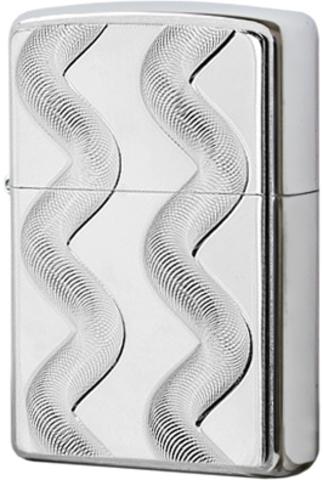Купить Зажигалка Zippo Double Twister, Brushed Chrome 24871 по доступной цене