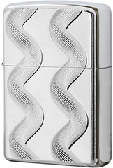 Зажигалка Zippo Double Twister, Brushed Chrome 24871