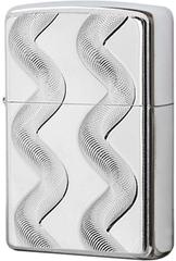 Зажигалка Zippo Double Twister, Brushed Chrome 24871
